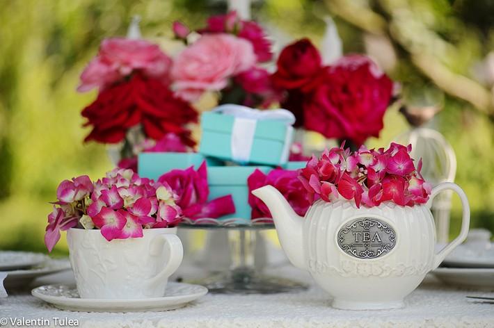 decor romantic cu trandafiri