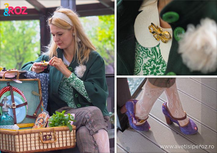 fata blonda la picnic