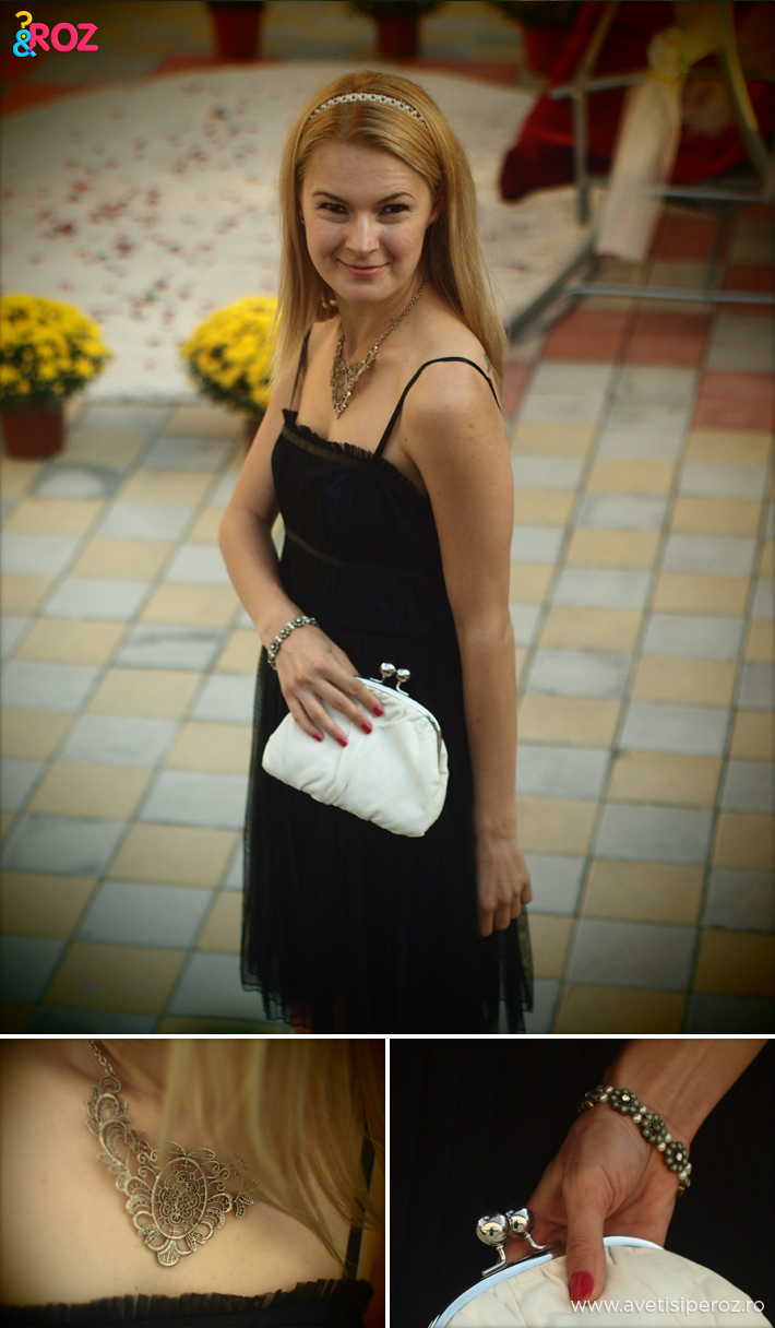 rochie-neagra-si-clutch-alb