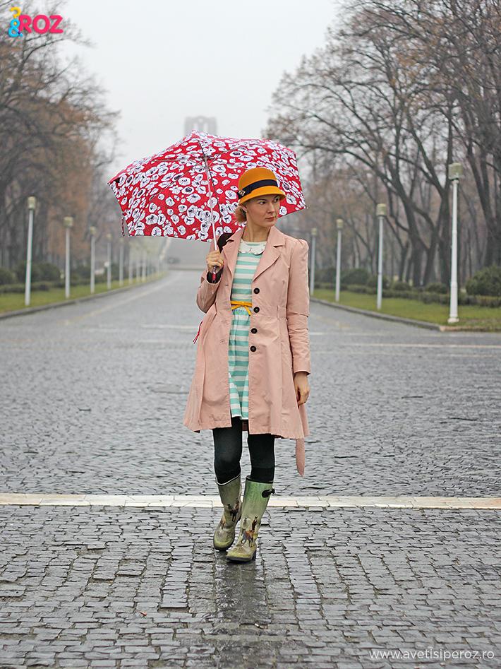 tinuta pentru zile ploioase