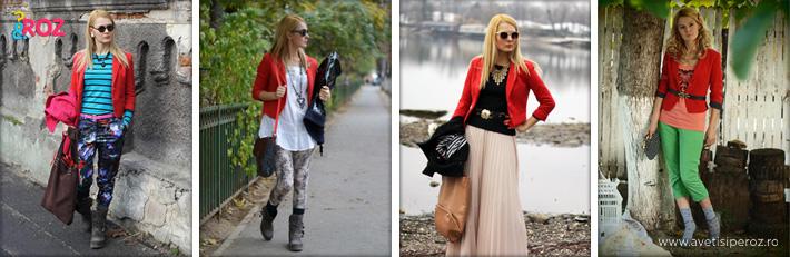 4 feluri de a purta un sacou rosu