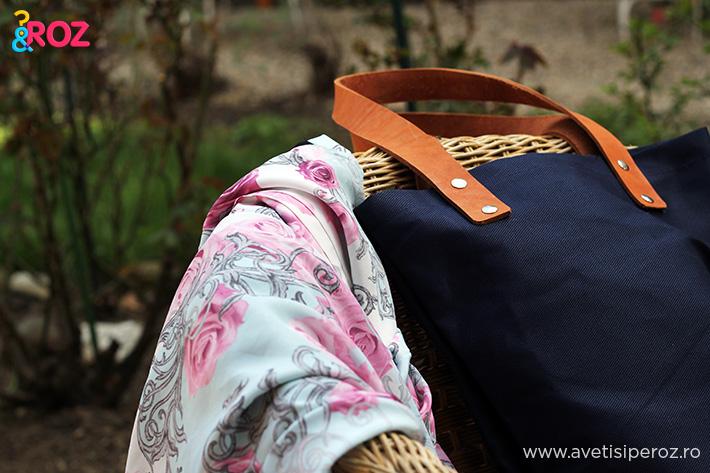 sacosa handmade si jacheta cu flori