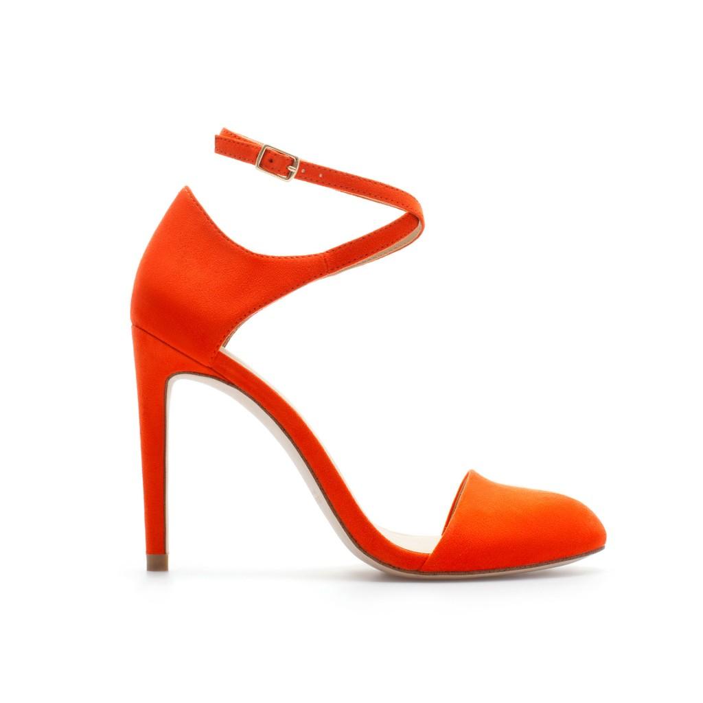 pantofi portocalii zara