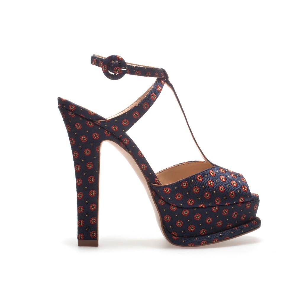 sandale cu imprimeu geometric zara