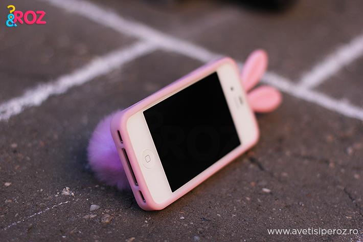 carcasa iphone iepure roz