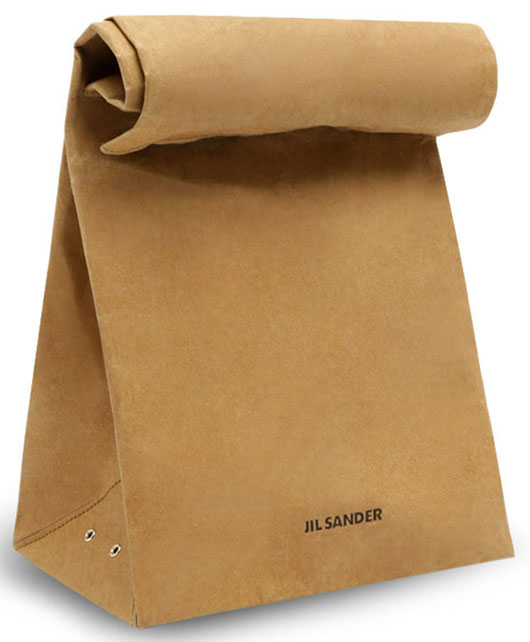 jil sander paper bag clutch