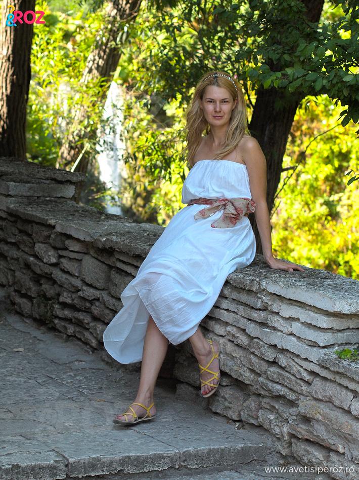 rochie alba de va