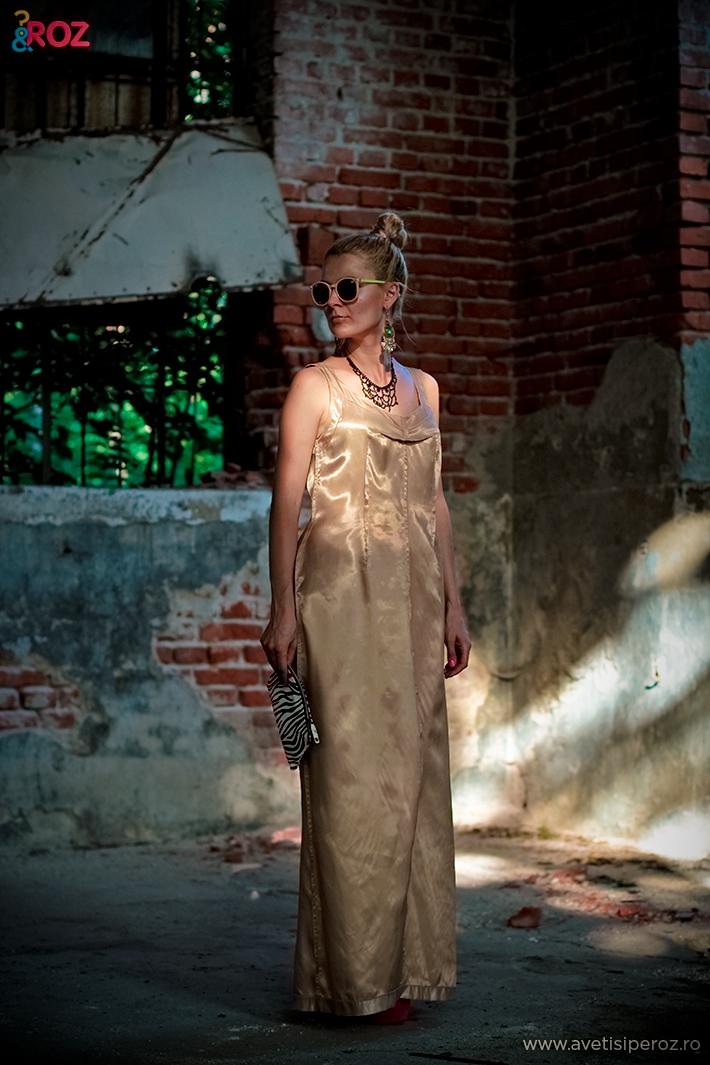 rochie gold margiela