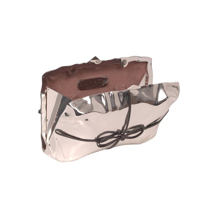 silver cabaret parcel clutch