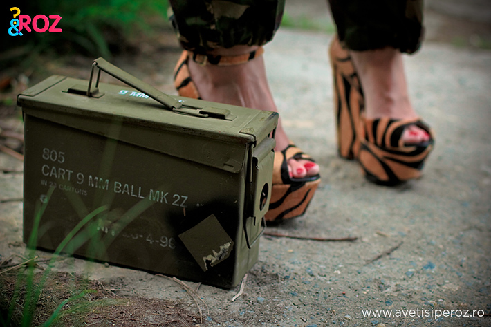 cutie army si sandale animal print