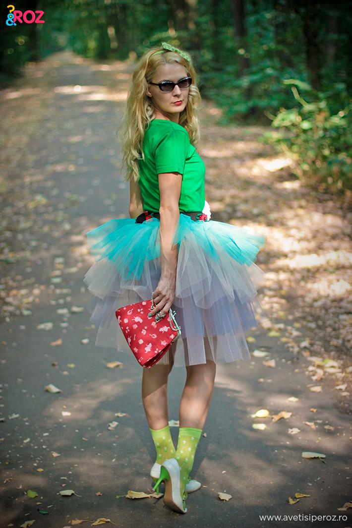 pantofi musette cu sosete verzi
