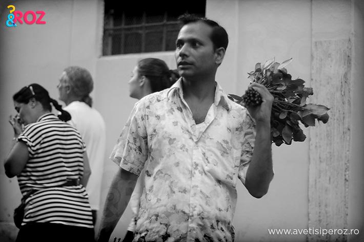 vanzator de flori roma