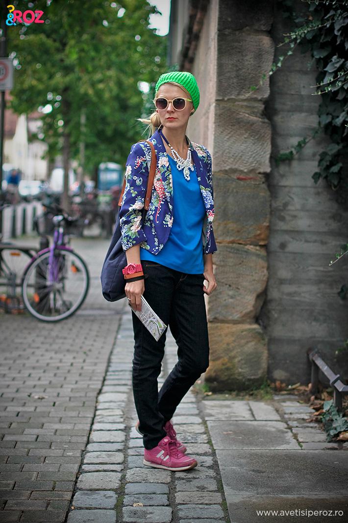 sacou cu flori zara si jeansi killah