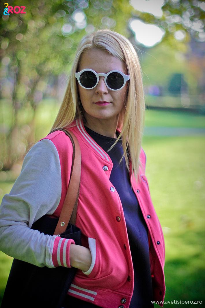 jacheta sport roz