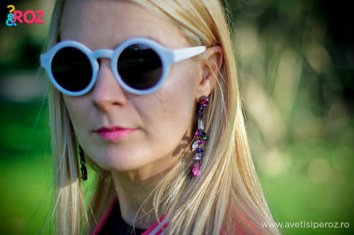 ochelari soare albi free people