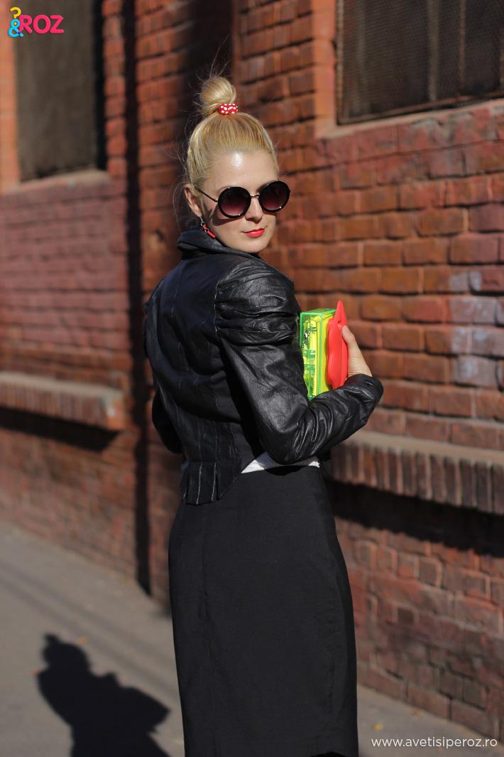blogger fashion romania in tinuta cu geaca piele
