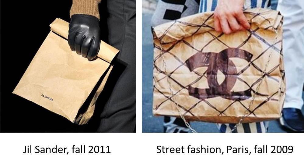 jil sander paper bag vs street fashion bag