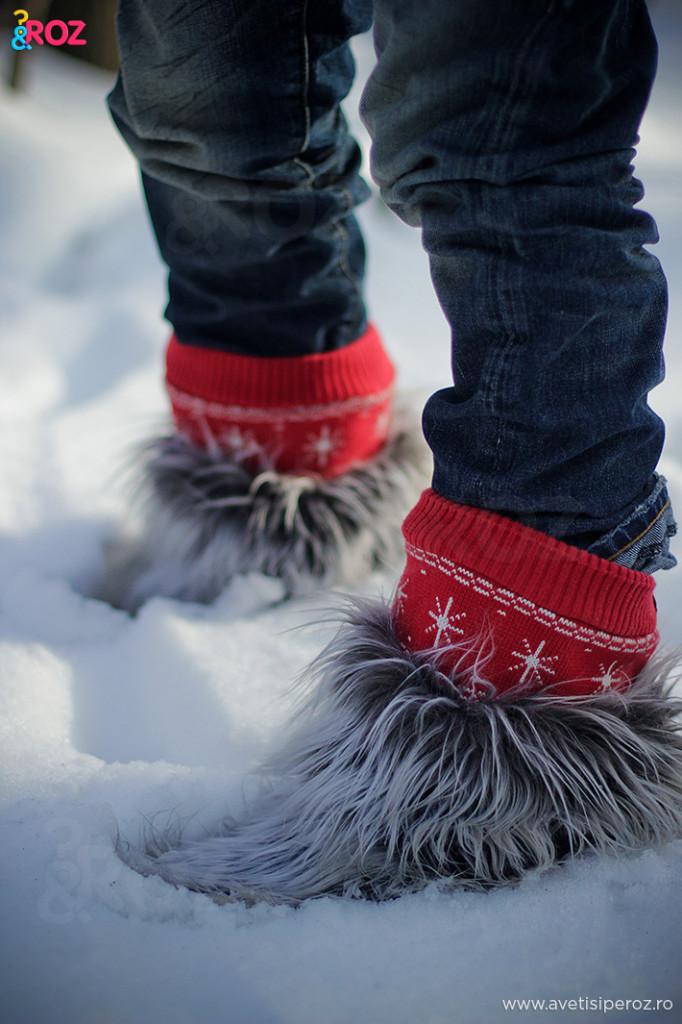 cizme cu blana animal
