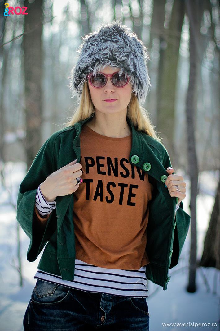 haina verde si bluza maro zara