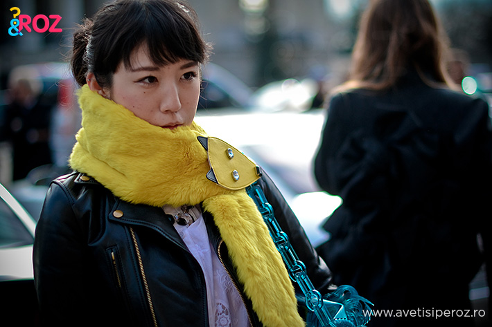 yellow scarf pfw