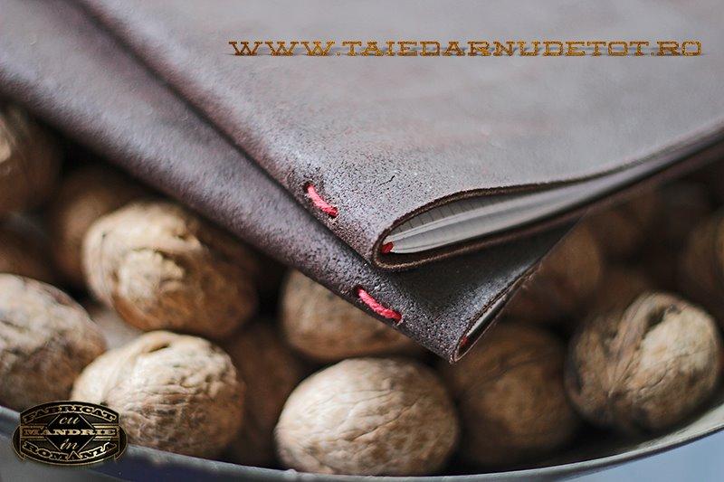 coperta caiet piele handmade