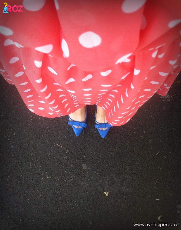rochie cu buline si balerini zara