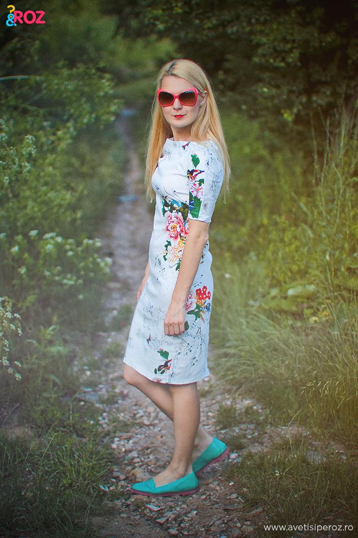 rochie zara cu flori