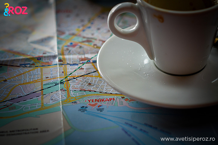 istanbul map and coffee