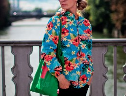 jacheta cu flori
