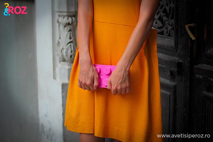 orange cos dress
