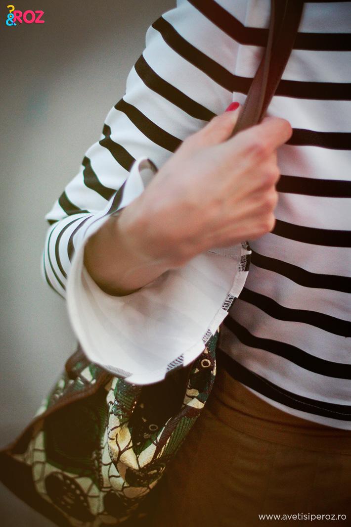 bluza zara cu dungi si geanta marni