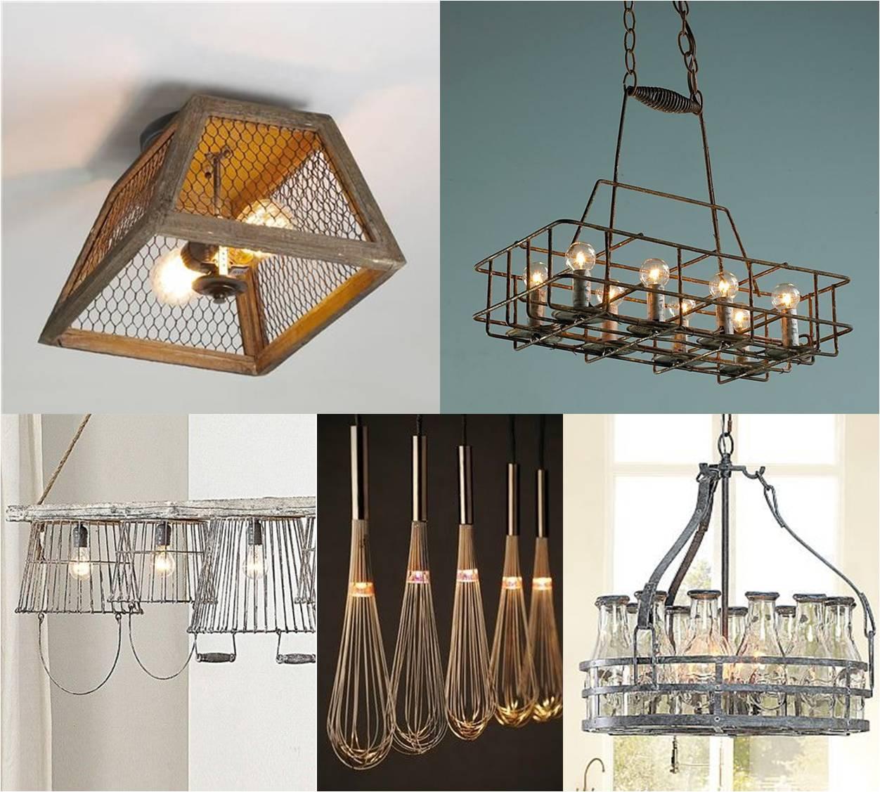 lampi creative din obiecte de bucatarie refolosite