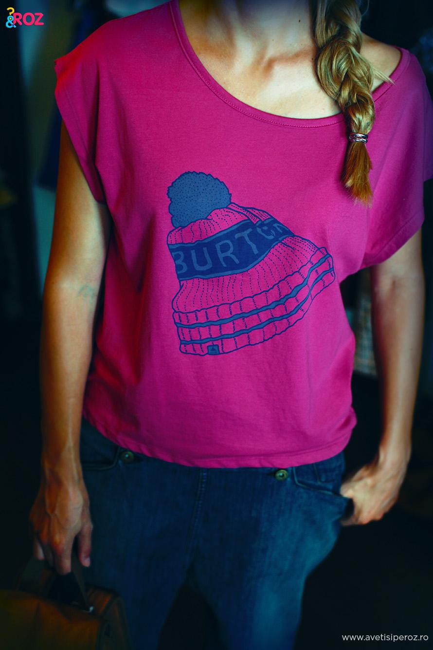 tricou roz burton