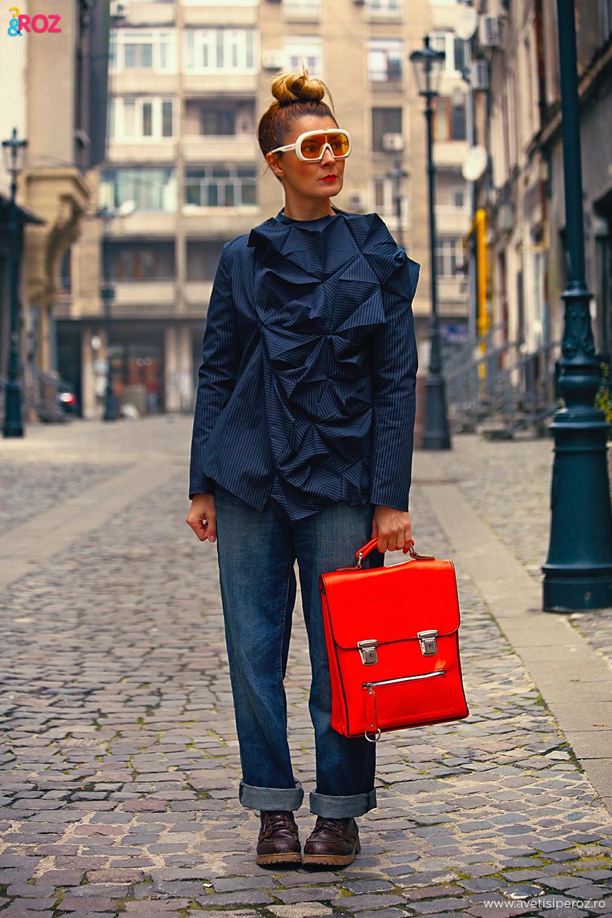 tinuta cu blugi blogger fashion