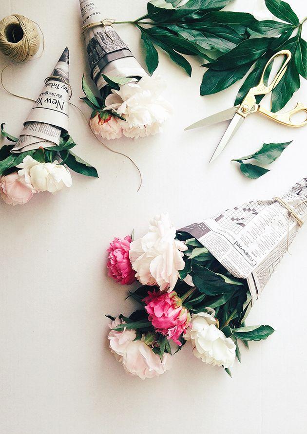 ambalaj creativ pentru flori