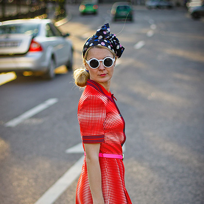 tinuta retro blogger fashion