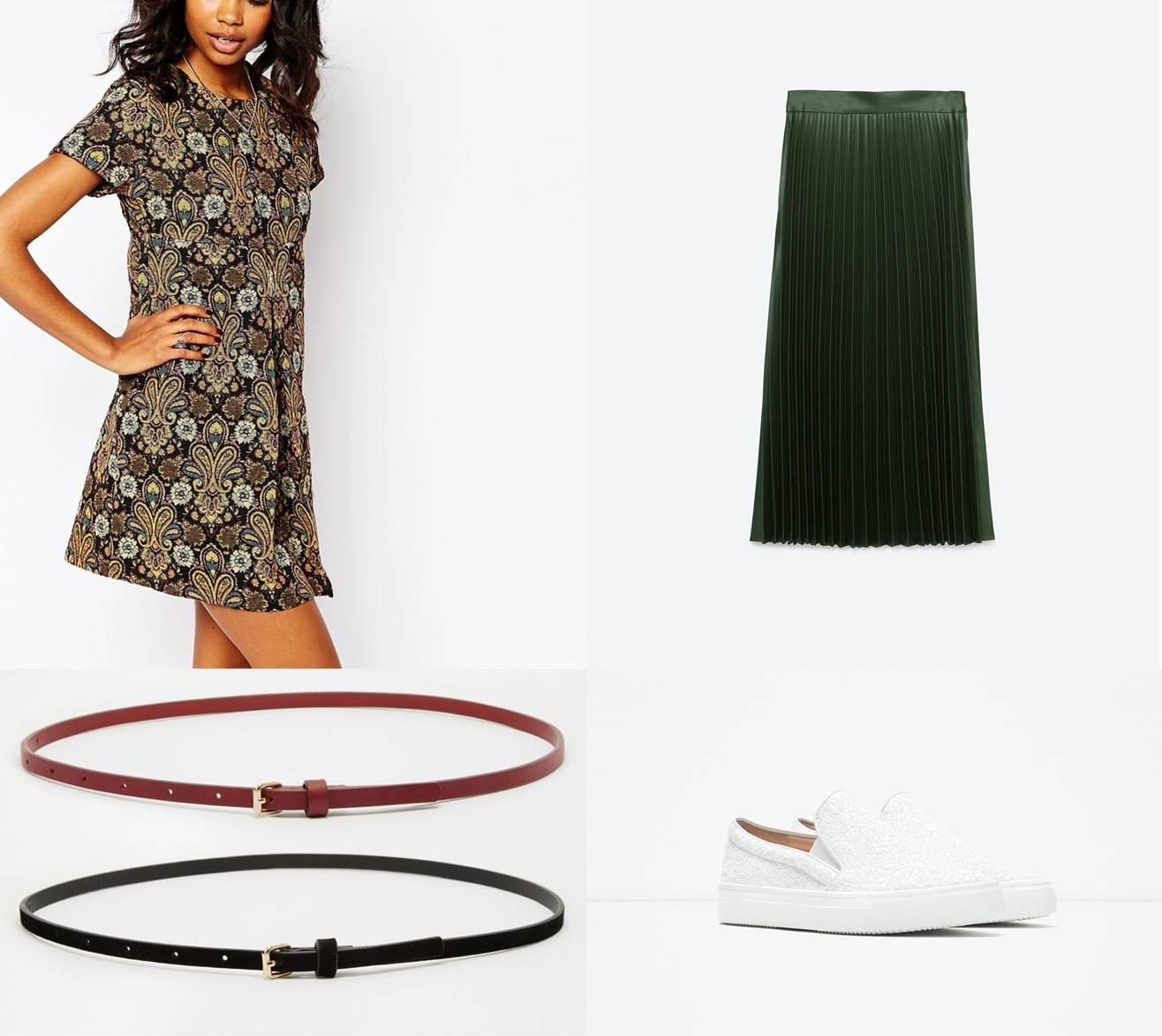 combinatie fusta si rochie