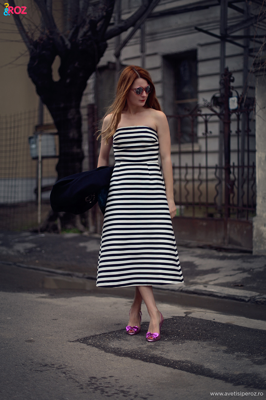 asos stripe bandeau dress
