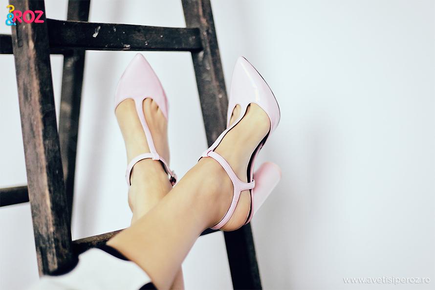 pantofi roz zara