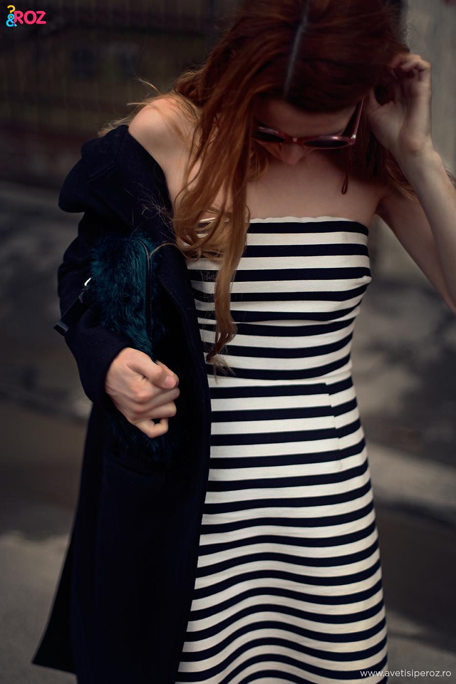rochie cu dungi asos