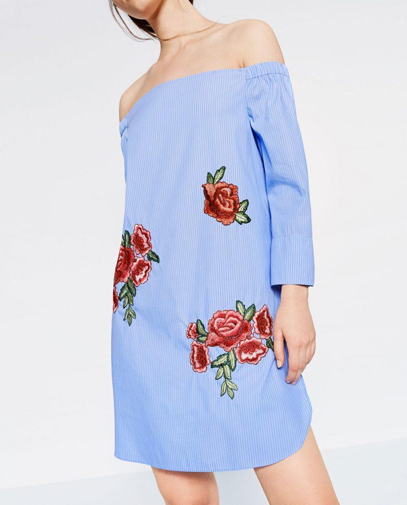 rochie bumbac cu flori
