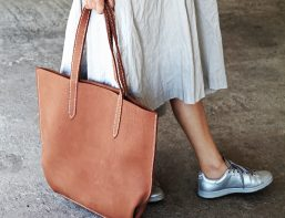 raf simons and leather tote