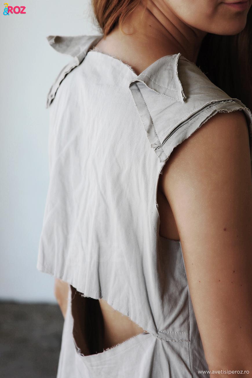 rochie cu crapatura la spate