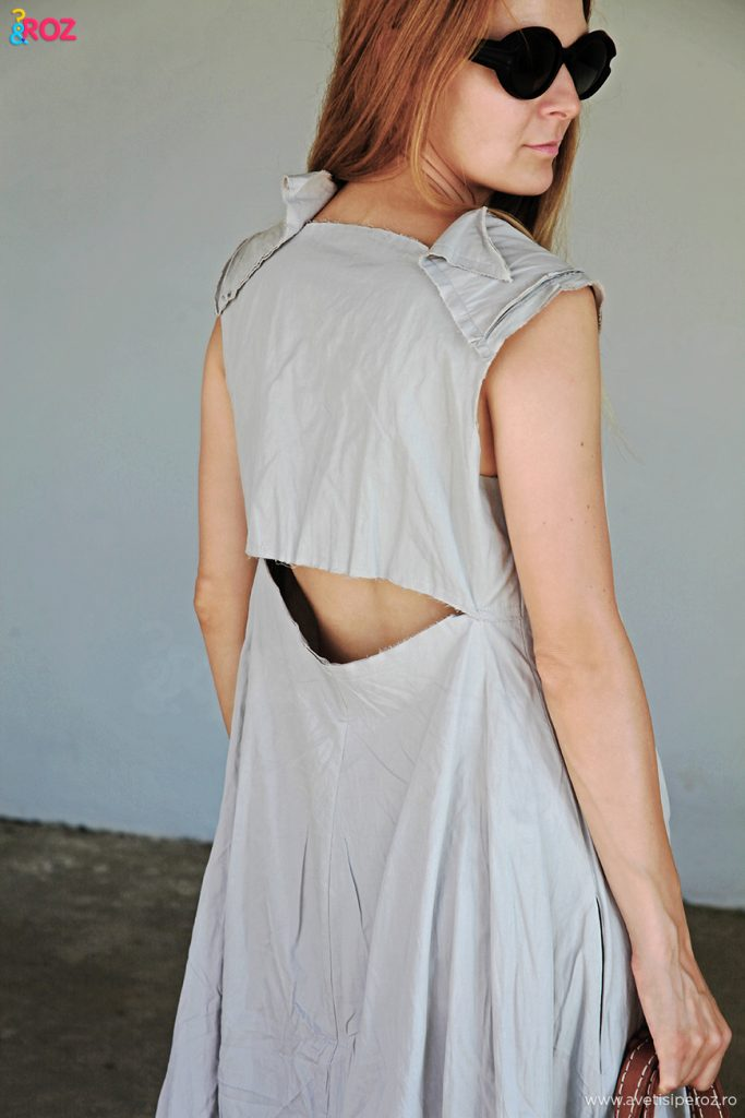rochie gri casual