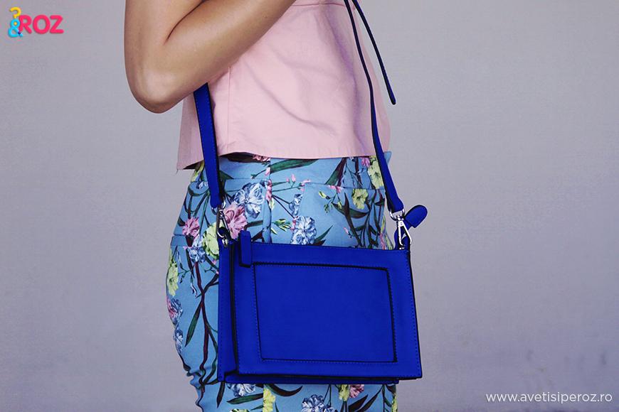 geanta c&a albastra