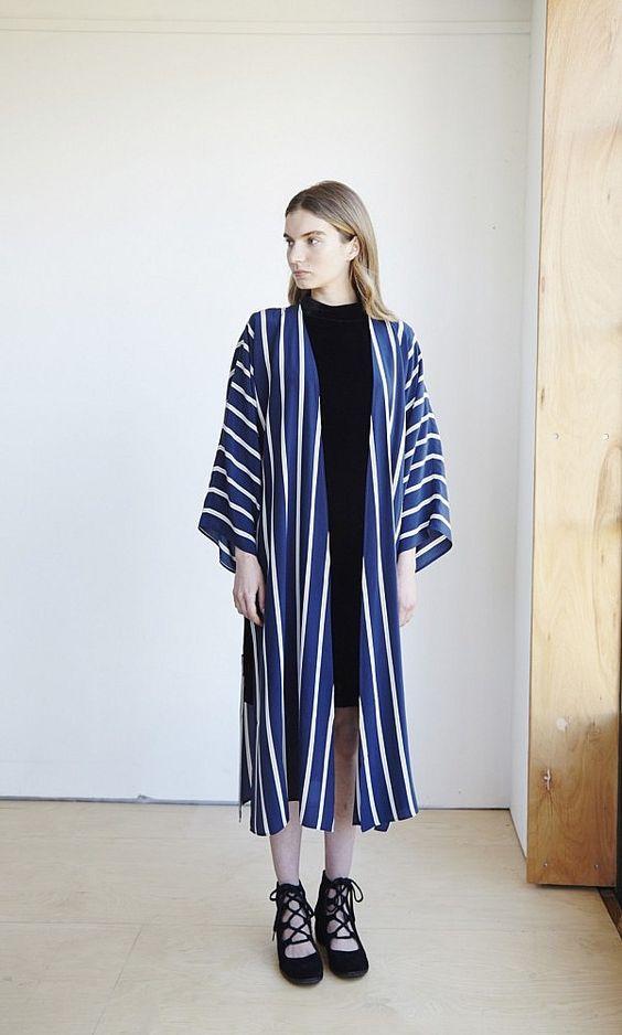 kimono cu dungi
