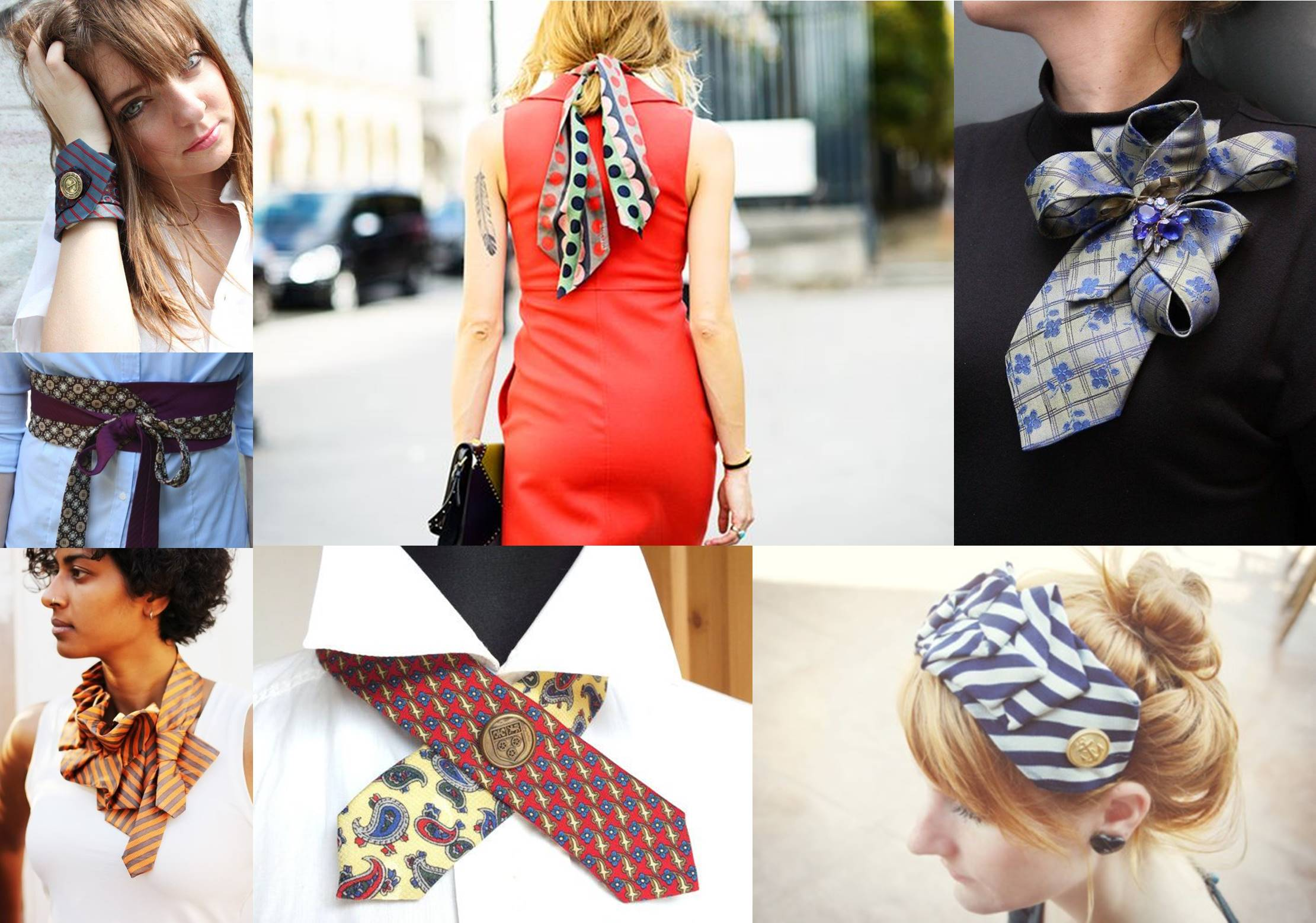 moduri creative de a purta cravata