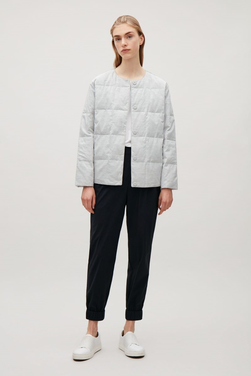 cos padded quilted jacket