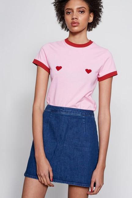 tricou cu inimi