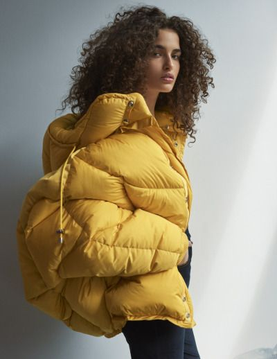yellow winter coat